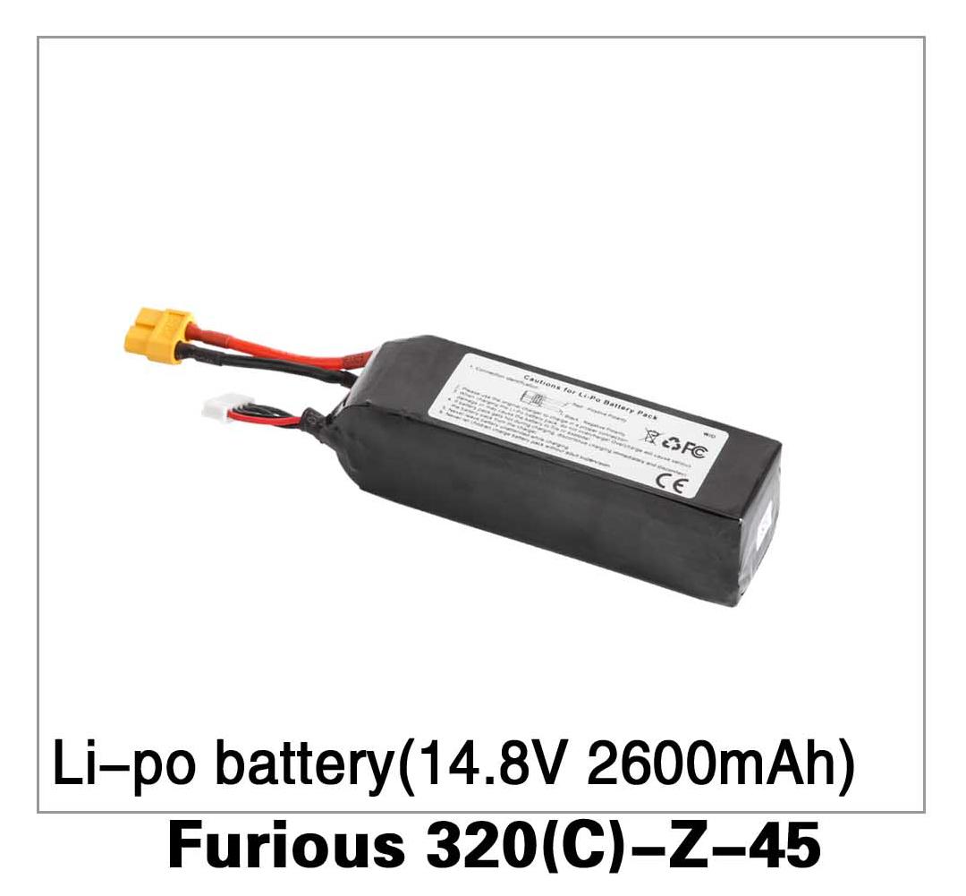 Li-Po Battery (14.8V 2600mAh 25C(4S)) Furious 320(C)-Z-45