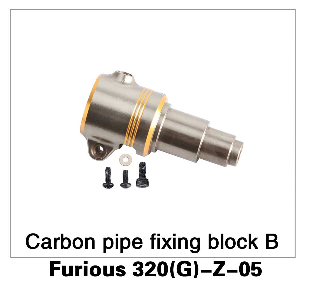 Carbon Pipe Fixing Block B Furious 320(G)-Z-05