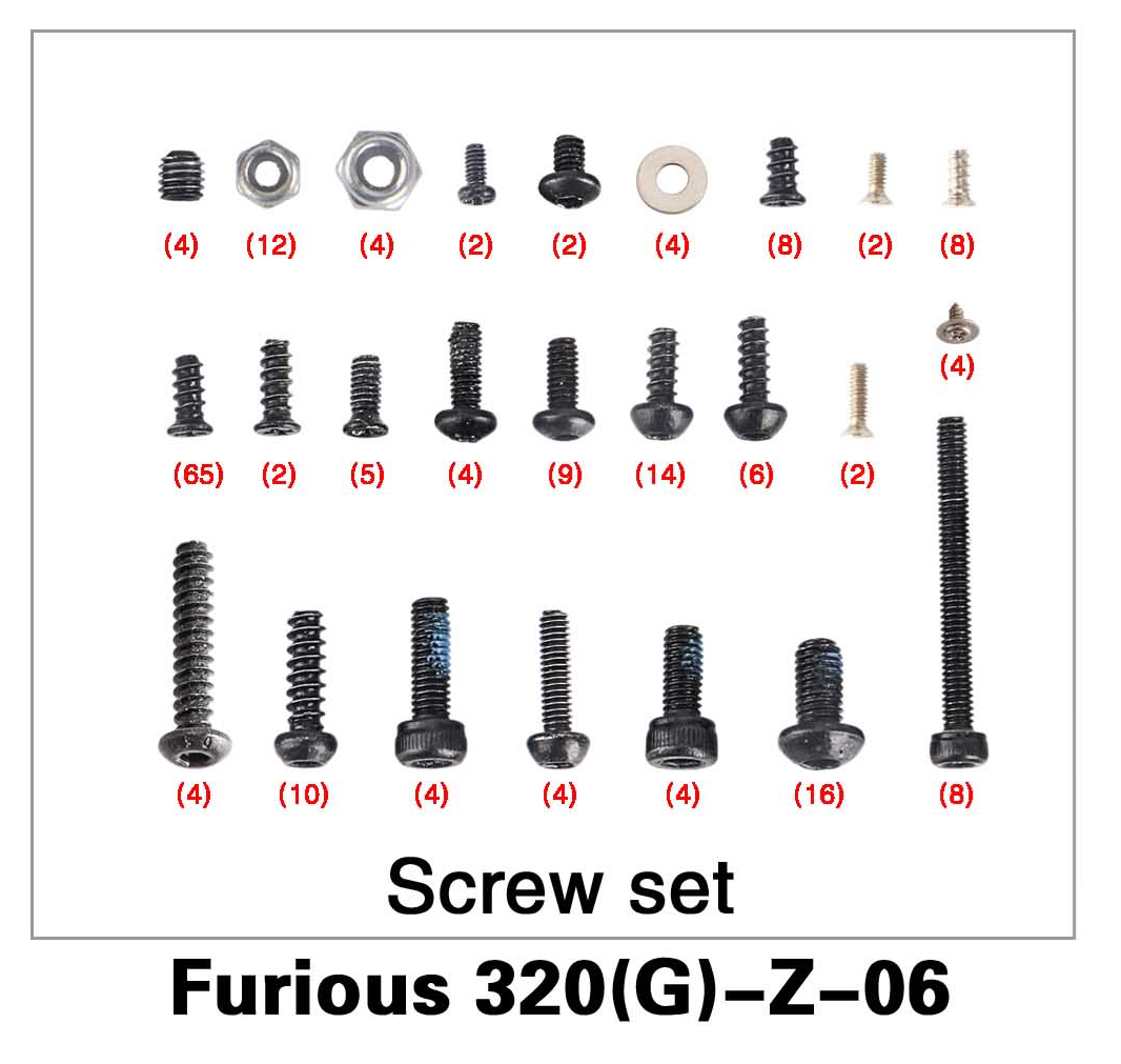Screw Set Furious 320(G)-Z-06