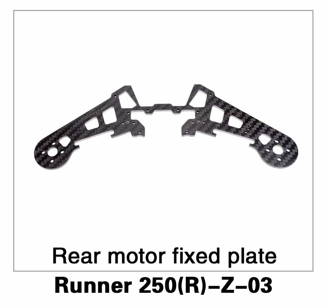 Rear Motor Fixed Plate Runner 250(R)-Z-03